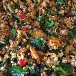 Roasted vegetable cous cous salad