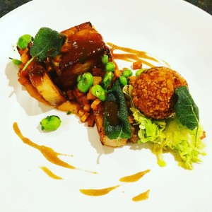 Pork belly and pumpkin